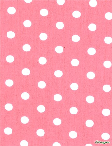 Popeline pur Coton - Pois 7mm - Rose