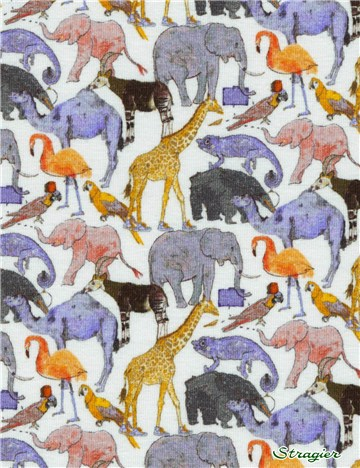 Jersey Liberty Coton - Queue for the Zoo - B
