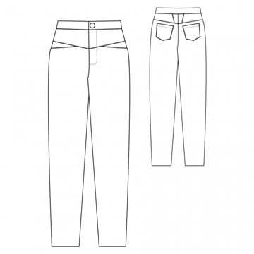 Patron République du Chiffon - Trousers Louis -  - EU 34-46
