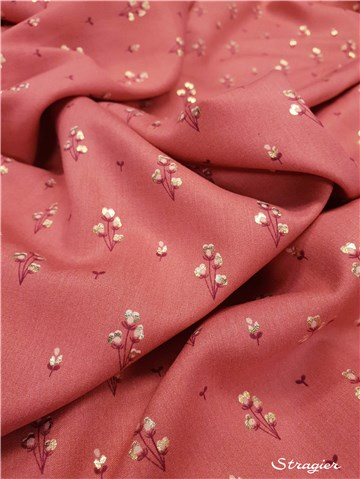 Javanaise Viscose - Gold Touch - Bouton d'or - Rose ancien