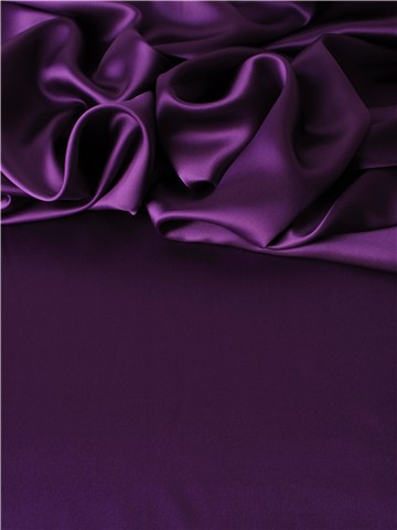 Crepe Satin en Soie - Uni - Heather