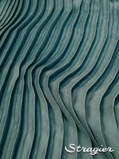 Satin washed pleated panels - Atalante colour