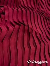 Satin washed pleated panels - Bougainvillea colour