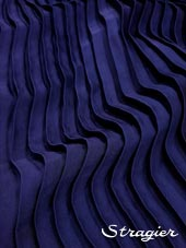 Satin washed pleated panels - Classic blue colour