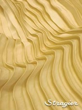 Satin washed pleated panels - Pale yellow colour