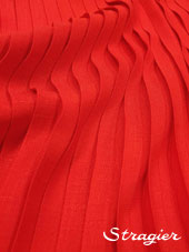 Pleated box - Red colour