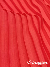 Pleated box - coral Pink colour